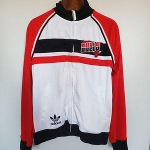 Adidas // Bulls full zip mock neck sweater